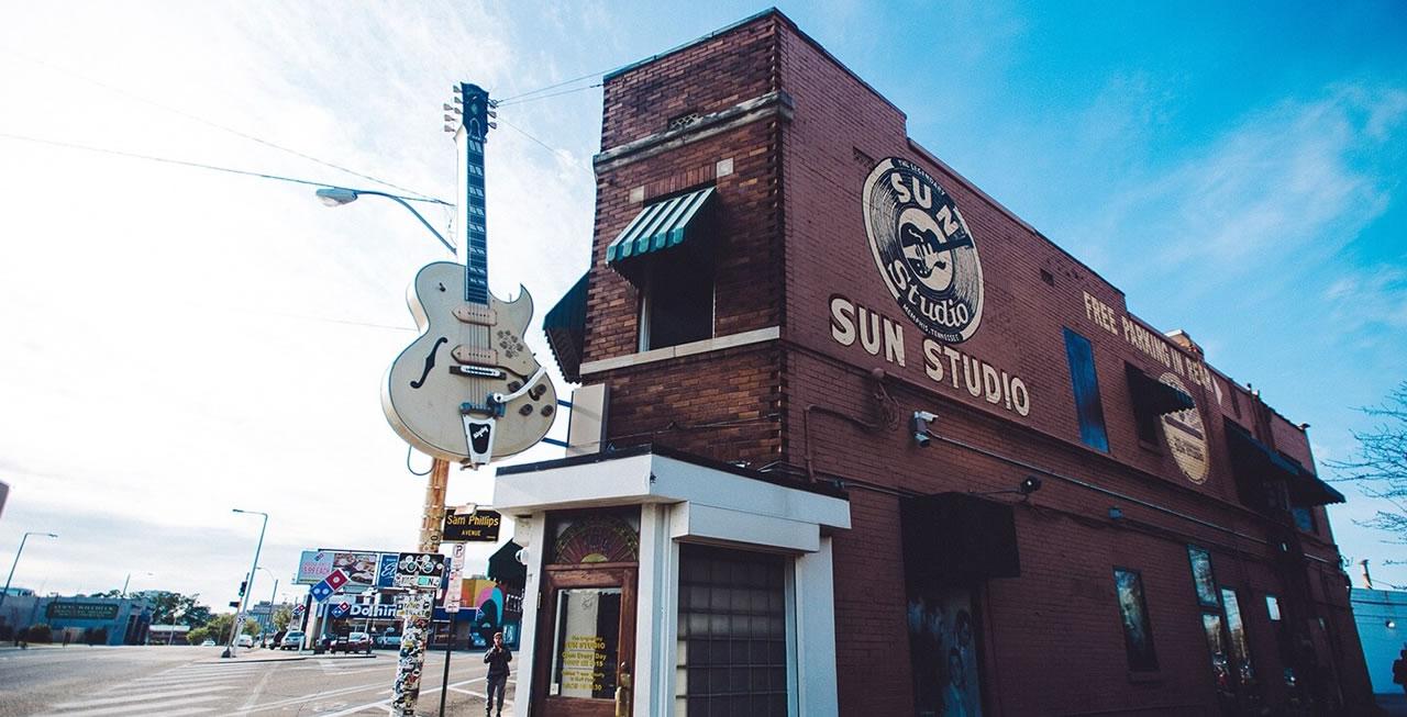 Esterno del Sun Studio di Memphis