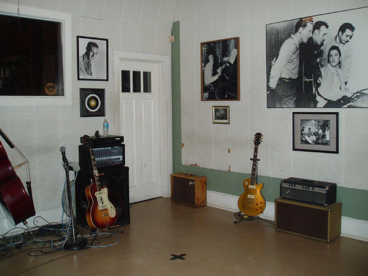 La sala di registrazione al Sun Studio