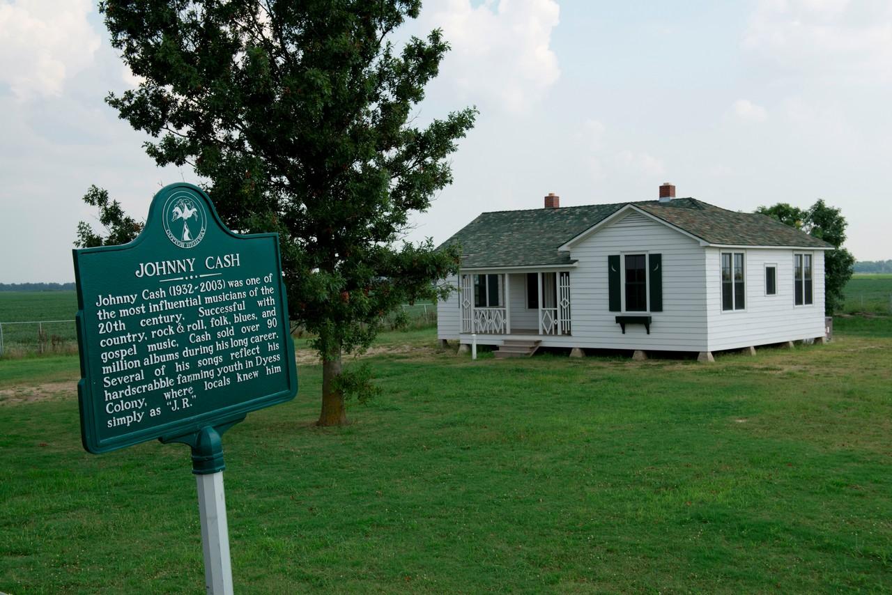 La casa-museo di Johnny Cash a Dyess, Arkansas