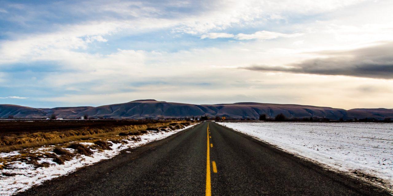 La Route 66 in inverno