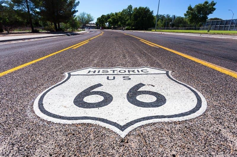 La Route 66 in primavera
