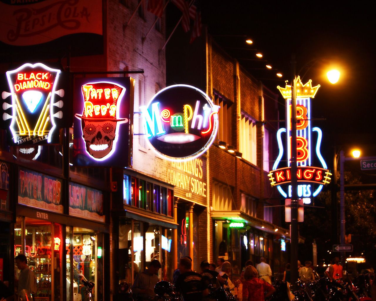 Luci a neon in Beale Street, Memphis