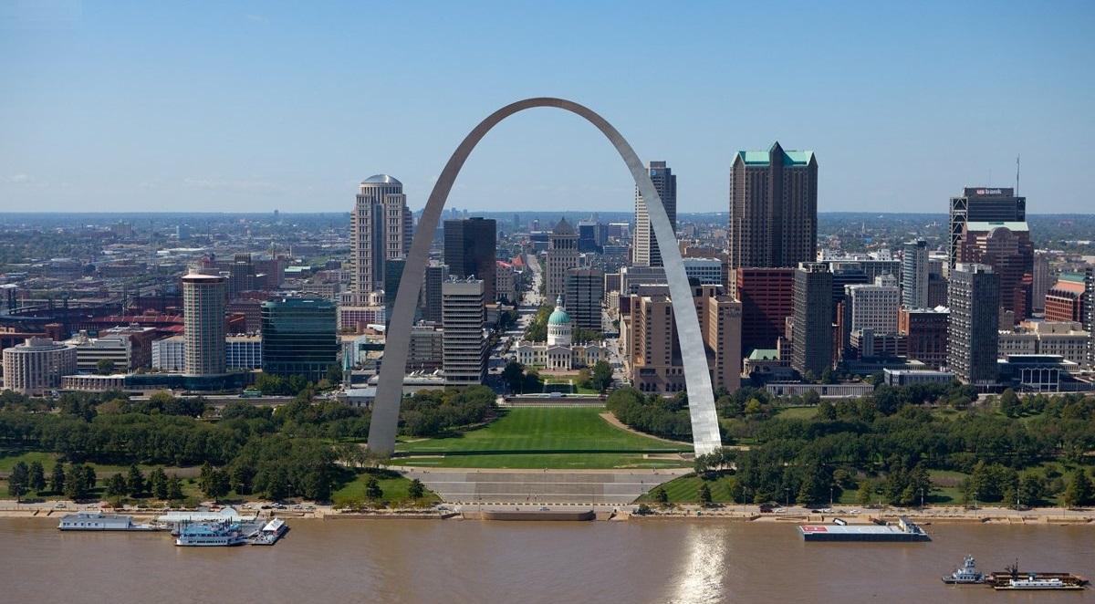 Uno scorcio di St. Louis in Missouri